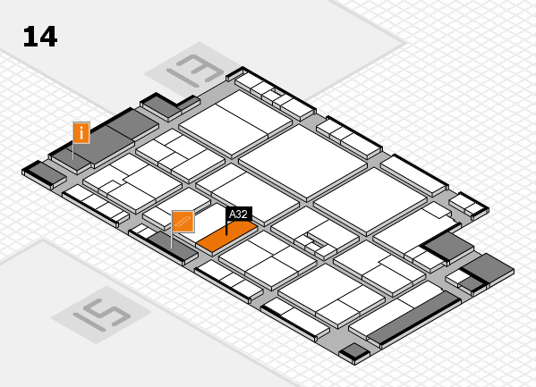 drupa 2016 hall map (Hall 14): stand A32