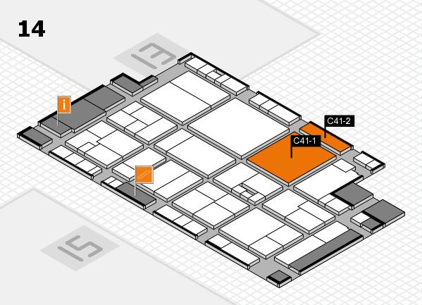 drupa 2016 hall map (Hall 14): stand C41-1, stand C41-2