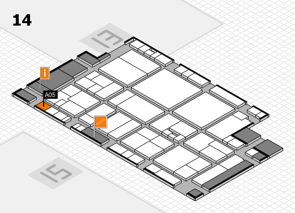 drupa 2016 hall map (Hall 14): stand A05