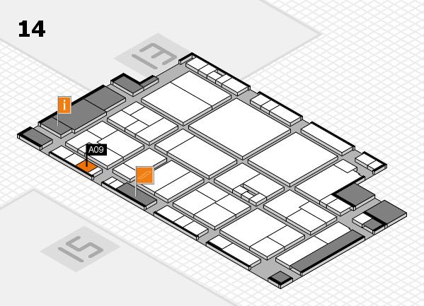 drupa 2016 hall map (Hall 14): stand A09