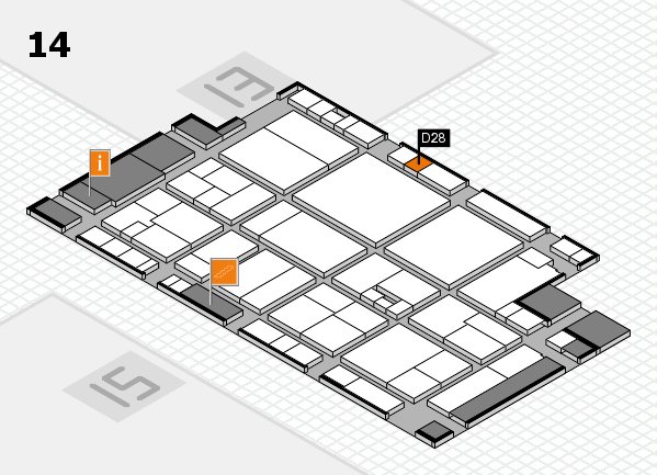 drupa 2016 Hallenplan (Halle 14): Stand D28