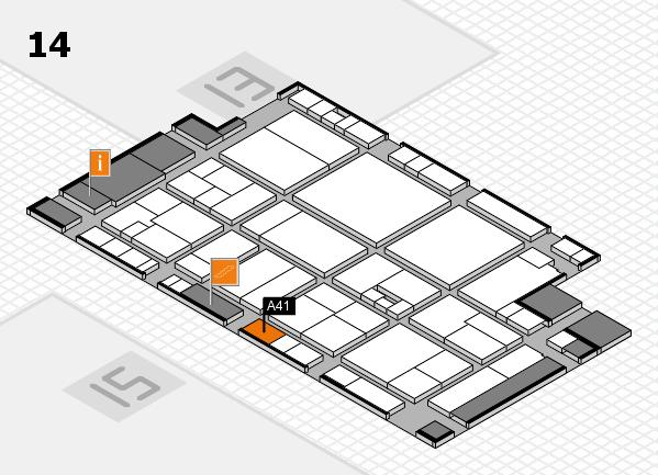 drupa 2016 hall map (Hall 14): stand A41