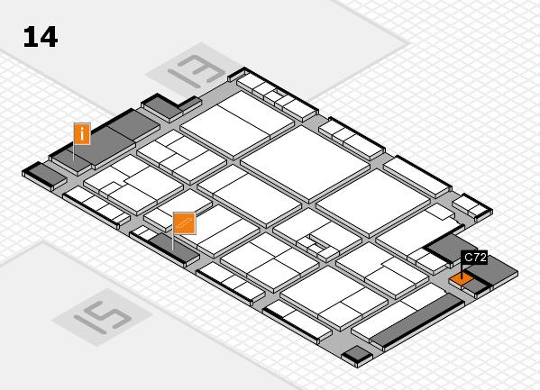 drupa 2016 Hallenplan (Halle 14): Stand C72