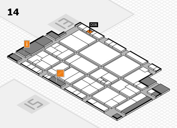 drupa 2016 hall map (Hall 14): stand D08