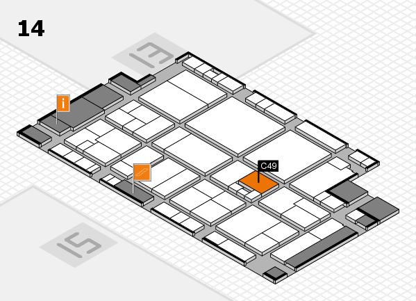 drupa 2016 Hallenplan (Halle 14): Stand C49