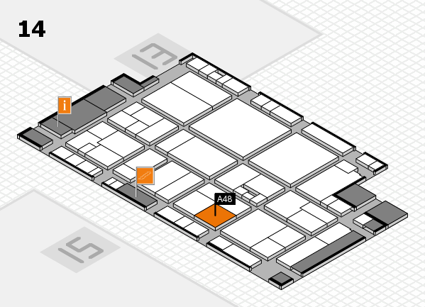 drupa 2016 hall map (Hall 14): stand A48