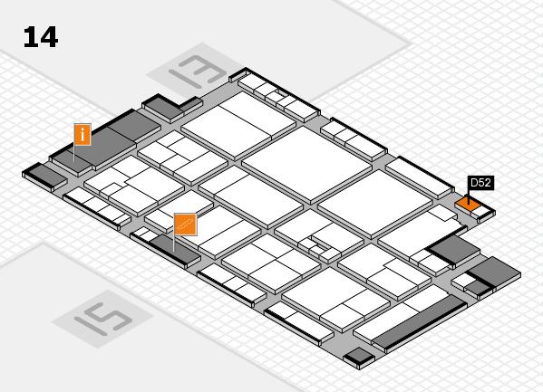 drupa 2016 hall map (Hall 14): stand D52
