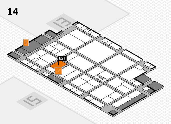 drupa 2016 Hallenplan (Halle 14): Stand B21