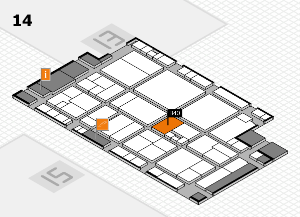 drupa 2016 hall map (Hall 14): stand B40