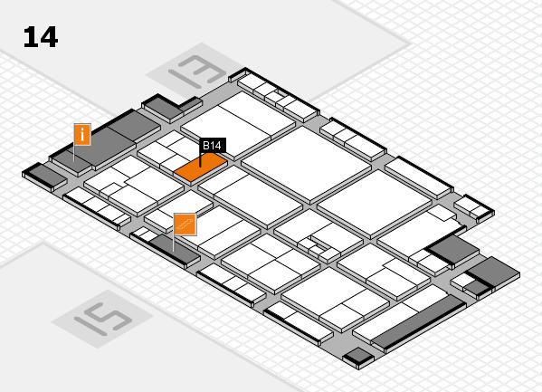 drupa 2016 Hallenplan (Halle 14): Stand B14