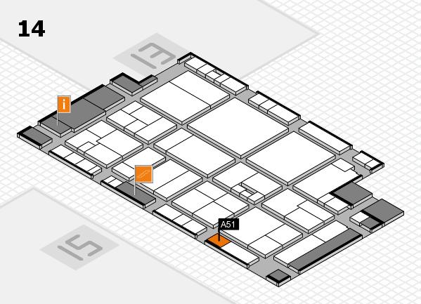 drupa 2016 hall map (Hall 14): stand A51
