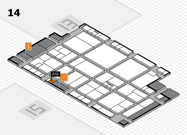 drupa 2016 hall map (Hall 14): stand A19