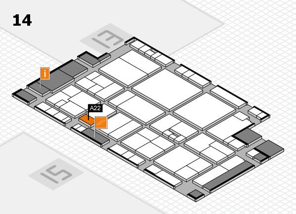drupa 2016 hall map (Hall 14): stand A22