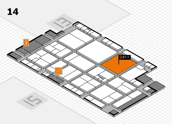 drupa 2016 Hallenplan (Halle 14): Stand C41-1