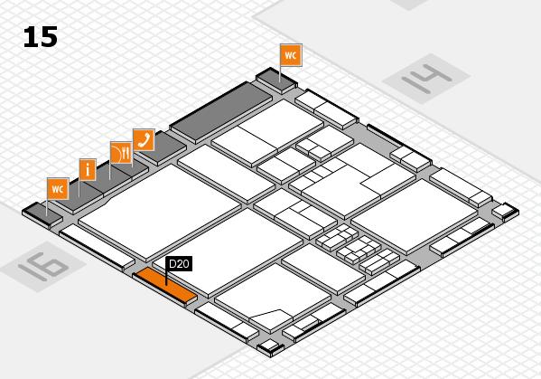 drupa 2016 Hallenplan (Halle 15): Stand D20