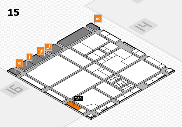 drupa 2016 hall map (Hall 15): stand D50