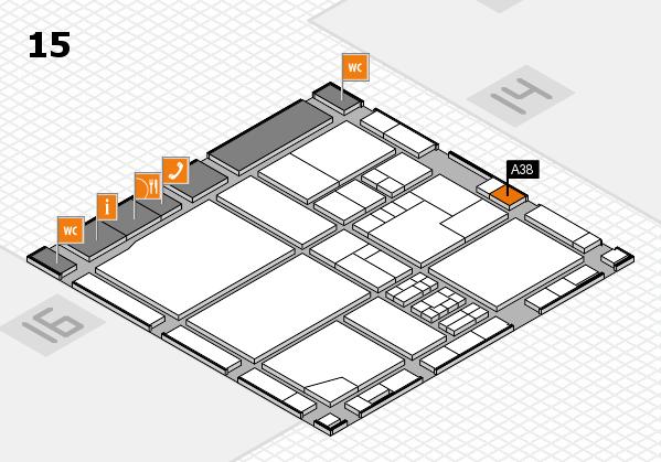 drupa 2016 Hallenplan (Halle 15): Stand A38