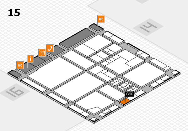 drupa 2016 Hallenplan (Halle 15): Stand C60