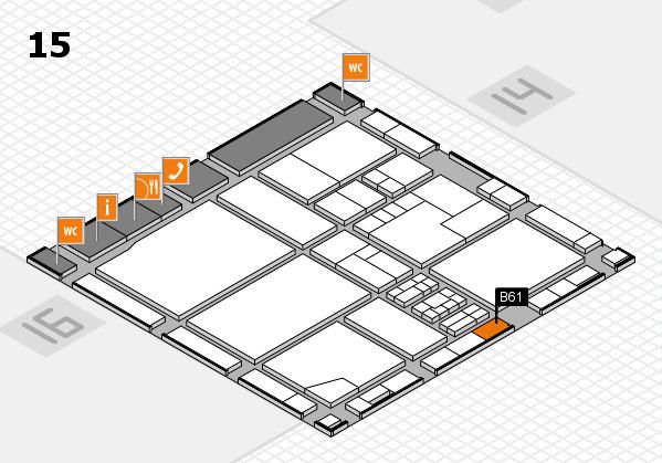 drupa 2016 Hallenplan (Halle 15): Stand B61