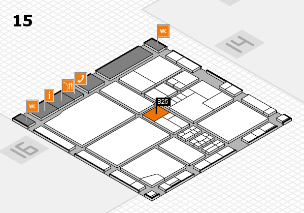 drupa 2016 Hallenplan (Halle 15): Stand B25