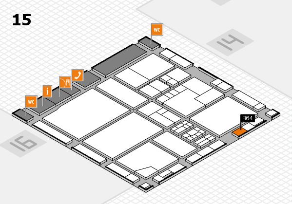 drupa 2016 hall map (Hall 15): stand B64