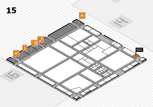 drupa 2016 Hallenplan (Halle 15): Stand A50
