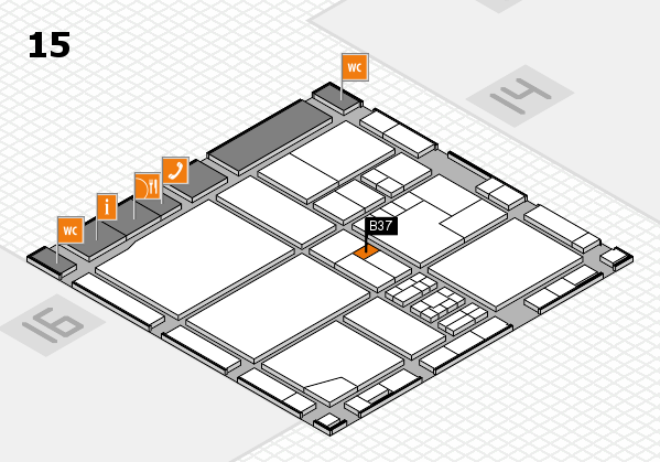 drupa 2016 Hallenplan (Halle 15): Stand B37