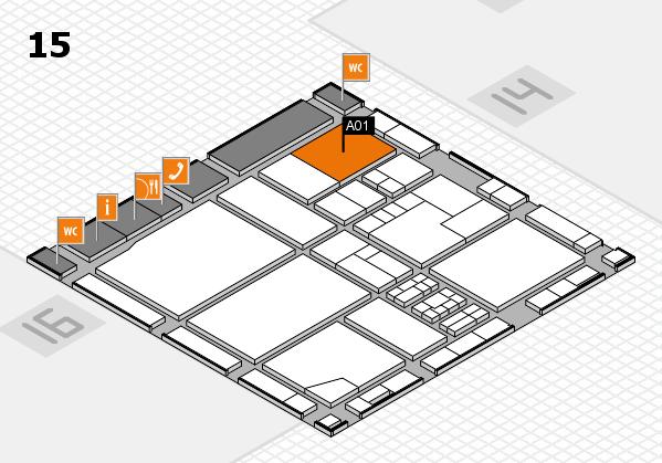 drupa 2016 Hallenplan (Halle 15): Stand A01