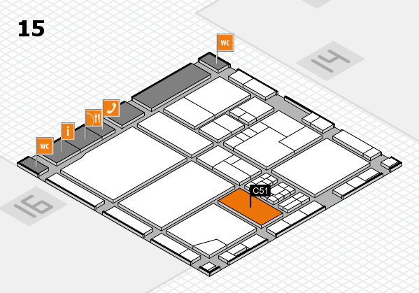 drupa 2016 Hallenplan (Halle 15): Stand C51