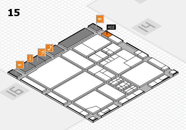 drupa 2016 hall map (Hall 15): stand A02