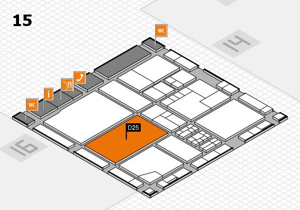 drupa 2016 Hallenplan (Halle 15): Stand D25