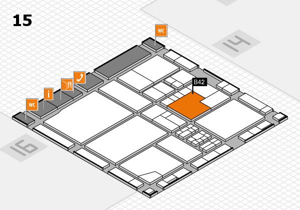 drupa 2016 Hallenplan (Halle 15): Stand B42