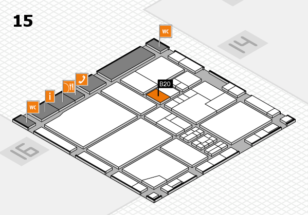 drupa 2016 Hallenplan (Halle 15): Stand B20