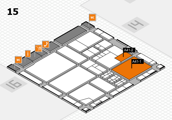 drupa 2016 Hallenplan (Halle 15): Stand A41-1, Stand A41-2