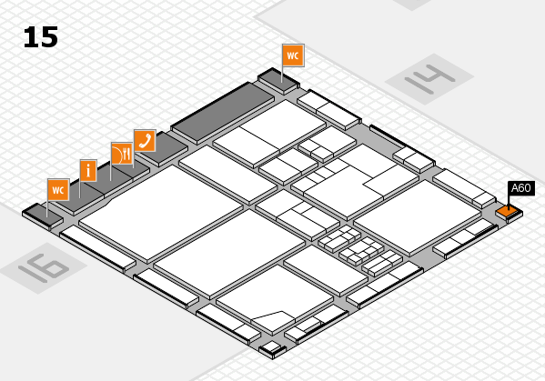 drupa 2016 Hallenplan (Halle 15): Stand A60