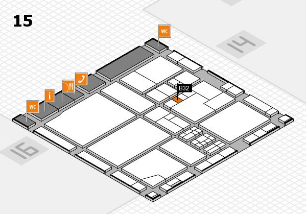 drupa 2016 Hallenplan (Halle 15): Stand B32