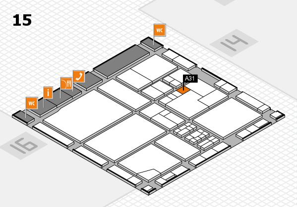 drupa 2016 hall map (Hall 15): stand A31