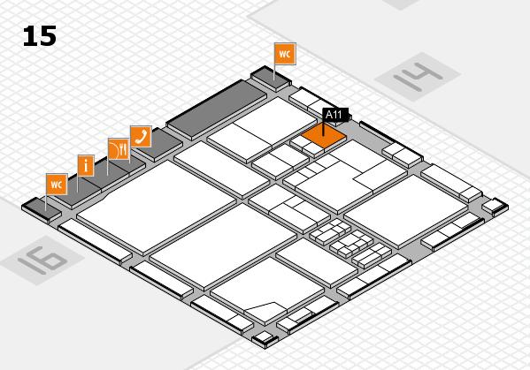 drupa 2016 Hallenplan (Halle 15): Stand A11