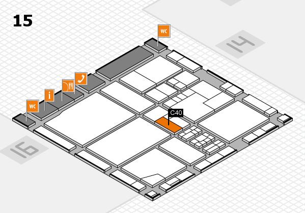 drupa 2016 Hallenplan (Halle 15): Stand C40