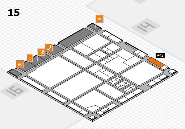 drupa 2016 hall map (Hall 15): stand A42