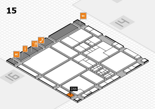drupa 2016 hall map (Hall 15): stand D56