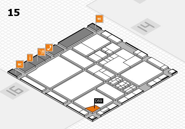 drupa 2016 Hallenplan (Halle 15): Stand D59