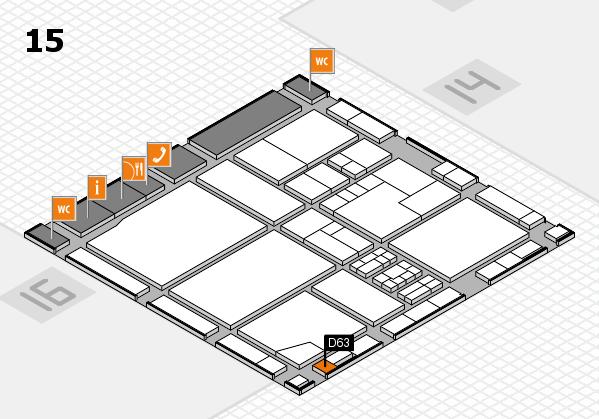 drupa 2016 Hallenplan (Halle 15): Stand D63