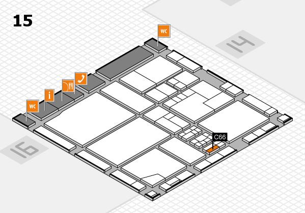 drupa 2016 hall map (Hall 15): stand C66