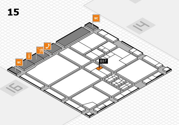 drupa 2016 hall map (Hall 15): stand B37