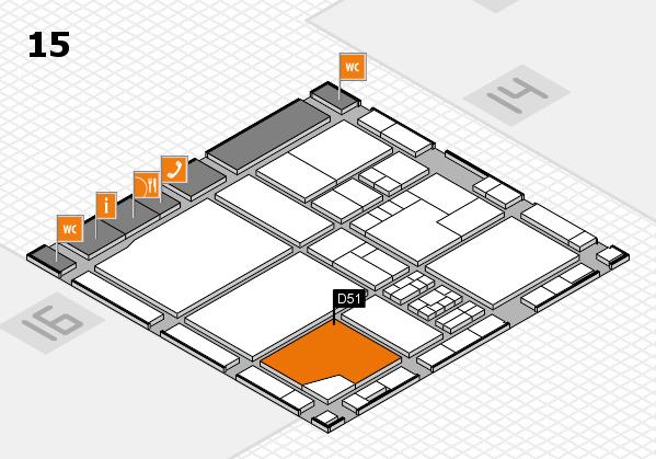 drupa 2016 Hallenplan (Halle 15): Stand D51