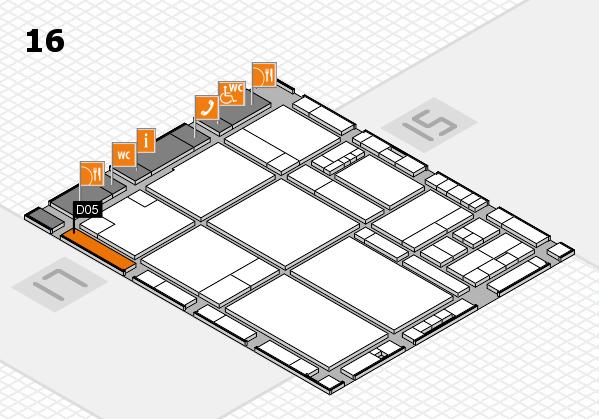 drupa 2016 hall map (Hall 16): stand D05