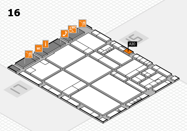 drupa 2016 hall map (Hall 16): stand A30