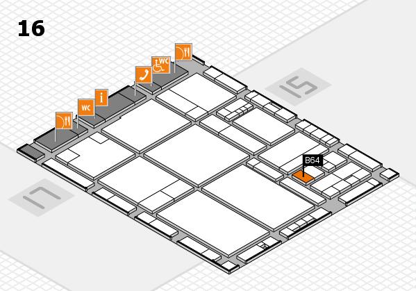 drupa 2016 hall map (Hall 16): stand B64