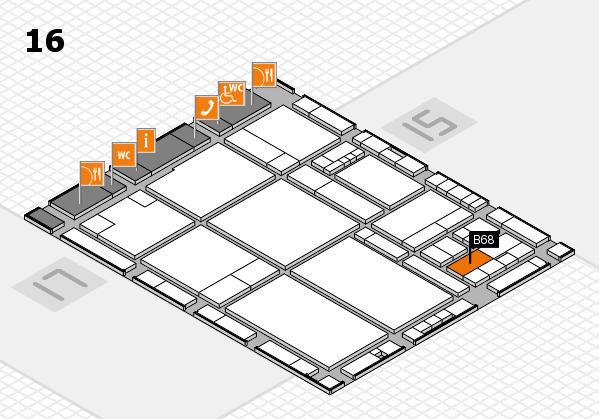 drupa 2016 hall map (Hall 16): stand B68
